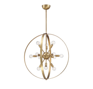 612263 - 12 Light Chandelier - Warm Brass