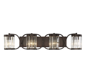 612273 - Four Light Bath Bar - Burnished Bronze