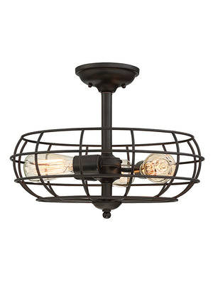 673537 - Three Light Semi-Flush Mount - English Bronze