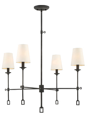 673590 - Four Light Chandelier - Oxidized Black