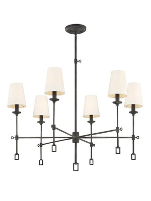 673594 - Six Light Chandelier - Oxidized Black