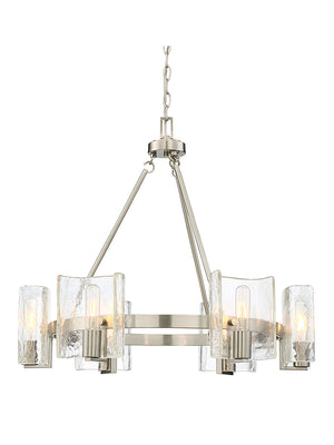 673598 - Six Light Chandelier - Satin Nickel