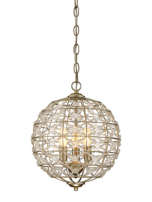 673512 - Three Light Mini Chandelier - Aurora