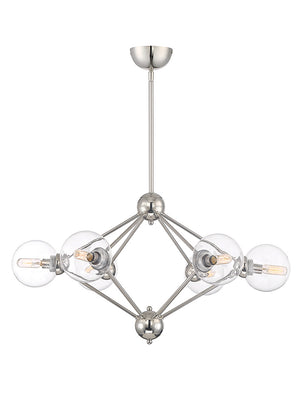 673517 - Six Light Chandelier - Polished Nickel
