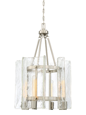 673568 - Four Light Foyer Pendant - Satin Nickel
