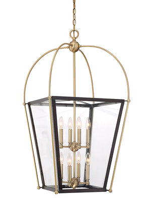 673570 - Eight Light Foyer Pendant - English Bronze & Warm Brass