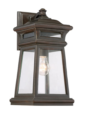 679049 - One Light Outdoor Wall Lantern - English Bronze w/ Gold