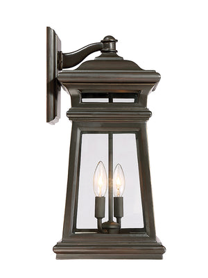 679041 - Two Light Wall Lantern - English Bronze w/ Gold