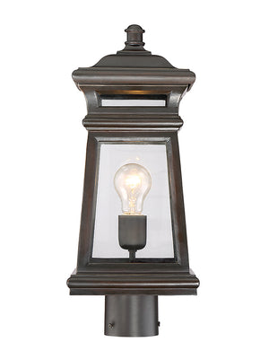 679046 - One Light Post Lantern - English Bronze w/ Gold