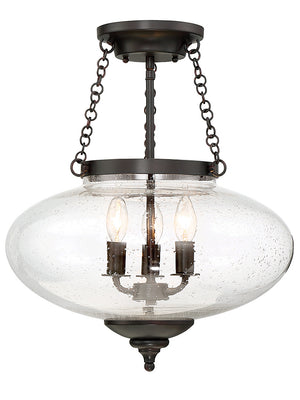679024 - Three Light Semi-Flush Mount - English Bronze