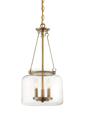 679092 - Three Light Pendant - Warm Brass