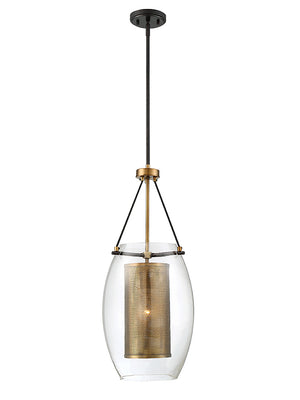 679012 - One Light Pendant - Warm Brass w/ Bronze accents