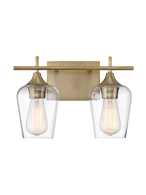 679082 - Two Light Bath Bar - Warm Brass