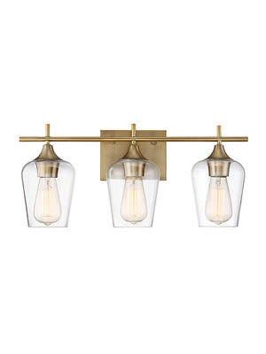 679089 - Three Light Bath Bar - Warm Brass