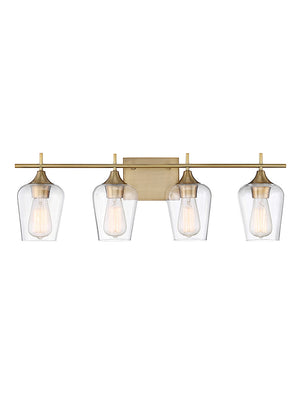 679088 - Four Light Bath Bar - Warm Brass
