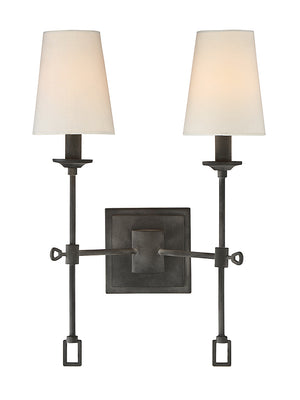 679077 - Two Light Wall Sconce - Oxidized Black