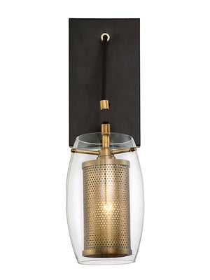 679059 - One Light Wall Sconce - Warm Brass w/ Bronze accents