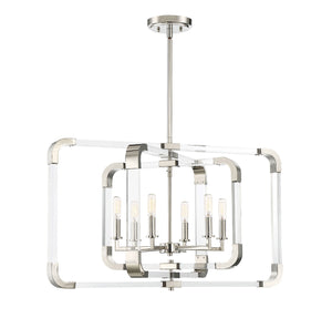 723291 - Six Light Pendant - Polished Nickel