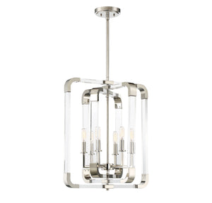723296 - Six Light Pendant - Polished Nickel
