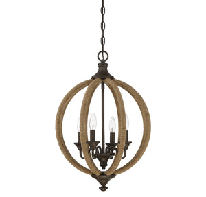 723264 - Four Light Pendant - Artisan Rust
