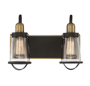 723275 - Two Light Bath Bar - English Bronze & Warm Brass