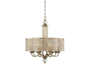 761233 - Eight Light Chandelier - Pyrite