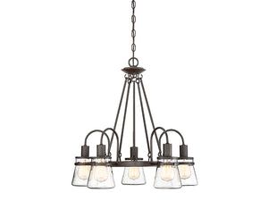 761294 - Five Light Outdoor Chandelier - English Bronze