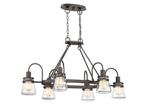 761292 - Six Light Outdoor Chandelier - English Bronze