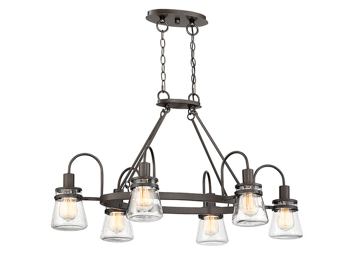 Six Light Outdoor Chandelier