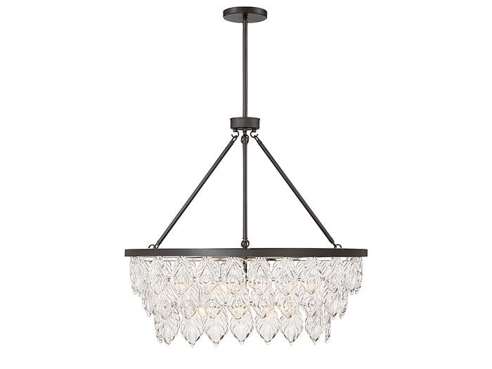 Seven Light Linear Chandelier