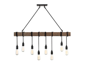 761263 - Eight Light Linear Chandelier - Durango