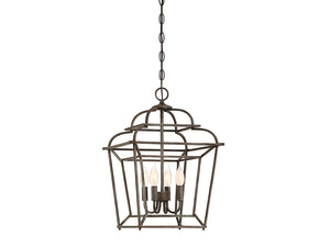 761278 - Four Light Foyer Pendant - Artisan Rust