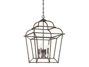761276 - Four Light Foyer Pendant - Artisan Rust