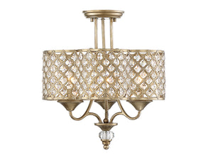 761323 - Three Light Semi-Flush Mount - Pyrite