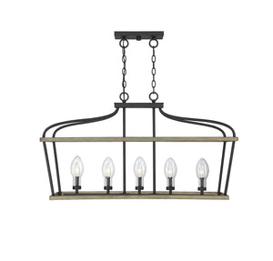 542253 - Five Light Outdoor Chandelier - Weathervane