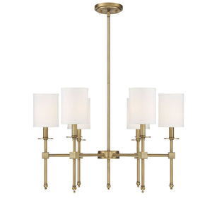 542308 - Six Light Chandelier - Warm Brass