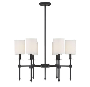 542307 - Six Light Chandelier - Matte Black