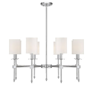 542340 - Eight Light Chandelier - Polished Nickel