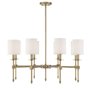 542344 - Eight Light Chandelier - Warm Brass