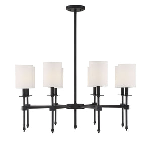 542343 - Eight Light Chandelier - Matte Black