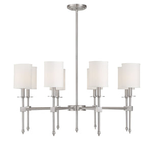 542349 - Eight Light Chandelier - Satin Nickel