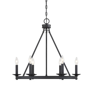 542347 - Six Light Chandelier - Matte Black