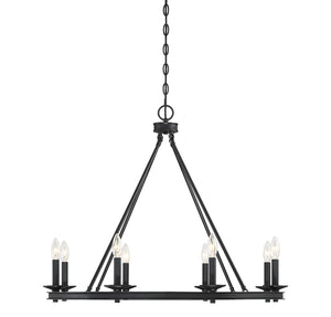 542322 - Eight Light Chandelier - Classic Bronze