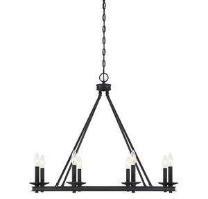 542323 - Eight Light Chandelier - Matte Black