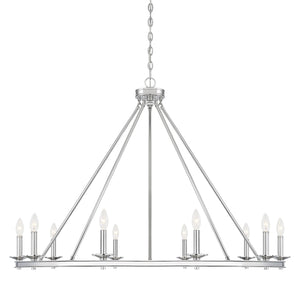 542321 - Ten Light Chandelier - Polished Nickel