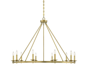 542328 - Ten Light Chandelier - Warm Brass