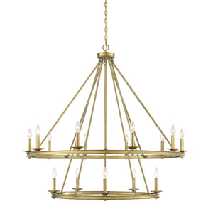 542334 - 15 Light Chandelier - Warm Brass