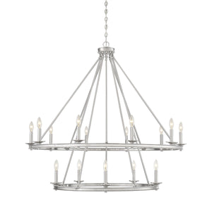 542339 - 15 Light Chandelier - Satin Nickel