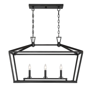 542336 - Three Light Linear Chandelier - Classic Bronze