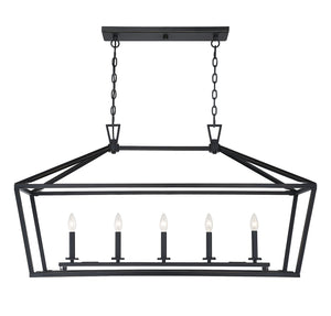 542392 - Five Light Linear Chandelier - Classic Bronze